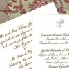 Hand Calligraphy wedding invitation and menu card with monogram