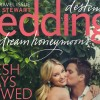 My hand lettering on the cover of Martha Stewart Weddings magazine