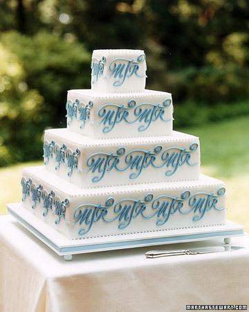 monogram cake 2